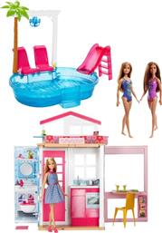 BARBIE BUILDUP VALUE PACK-ΣΠΙΤΙ & ΑΞΕΣΟΥΑΡ (FXN66) MATTEL