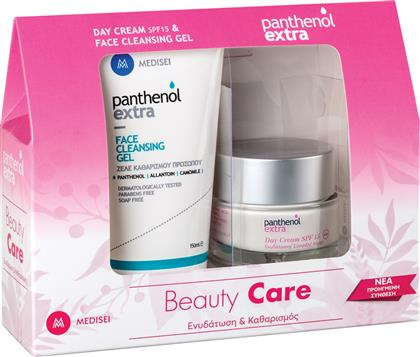 MEDISEI PANTHENOL EXTRA DAY CREAM SPF15 50ML & MEDISEI PANTHENOL EXTRA FACE CLEANSING GEL 150ML MEDI - SEI