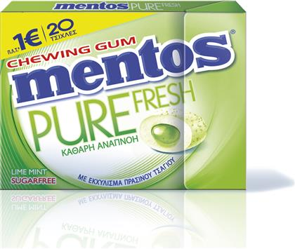 ΤΣΙΧΛΕΣ LIME MINT PURE FRESH (30 G) MENTOS