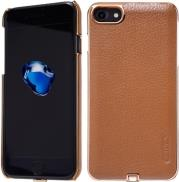 N-JARL WIRELESS CHARGER BACK COVER CASE FOR APPLE IPHONE 7 BROWN NILLKIN