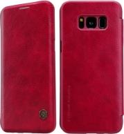 QIN LEATHER FLIP CASE FOR SAMSUNG GALAXY S8 PLUS G955 RED NILLKIN
