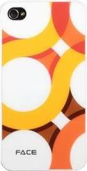 HARD FACE CASE APPLE IPHONE 4/4S CIRCLE WHITE - ORANGE PLASTIC NORTONLINE