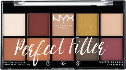 PERFECT FILTER SHADOW PALETTE RUSTIC ANTIQUE NYX PROFESSIONAL MAKEUP