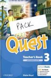 QUEST 3 TCHR'S PACK SPECIAL OFFER (TCHR'S SB + TCHR'S WB + TCHR'S GRAMMAR + TCHR'S COMPANION + TCHR'S TEST + AUDIO CD) OXFORD