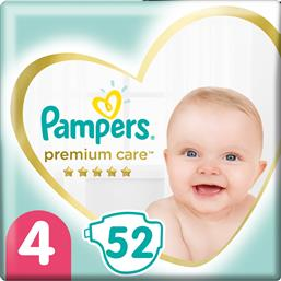 PREMIUM CARE JUMBO PACK NO4 (9-14KG) 52 ΠΑΝΕΣ PAMPERS