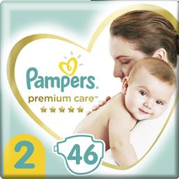 PREMIUM CARE ΝΟ2 (4-8KG) 46 ΠΑΝΕΣ PAMPERS