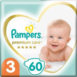 PREMIUM CARE NO3 (6-10KG) 60 ΠΑΝΕΣ PAMPERS