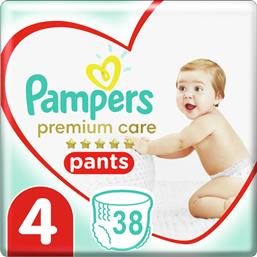 PREMIUM CARE PANTS JUMBO PACK NO4 (9-15KG) 38 ΠΑΝΕΣ PAMPERS