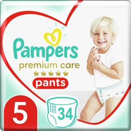 PREMIUM CARE PANTS JUMBO PACK NO5 (12-17KG) 34 ΠΑΝΕΣ PAMPERS