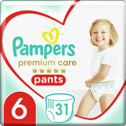 PREMIUM CARE PANTS JUMBO PACK NO6 (15+KG) 31 ΠΑΝΕΣ PAMPERS