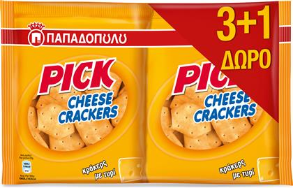 CRACKERS PICK CHEESE (4X45 G) 3+1 ΔΩΡΟ ΠΑΠΑΔΟΠΟΥΛΟΥ