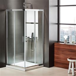 ΓΩΝΙΑΚΗ ΚΑΜΠΙΝΑ AXIS CORNER ENTRY CX-90 X 90 ΕΚ.-CLEAN GLASS POLIHOME