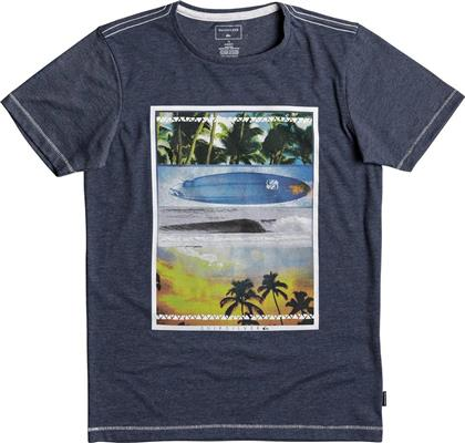SS HEATHER TEE PLACE TO BE YOUTH EQBZT03692-BYJH ΜΠΛΕ QUIKSILVER