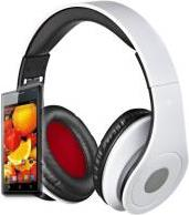AUDIOFEEL2 HEADPHONES WITH MIC WHITE REBELTEC