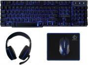 WIRED GAMING SET KEYBOARD + HEADPHONES + MOUSE + MOUSE PAD SHERMAN REBELTEC