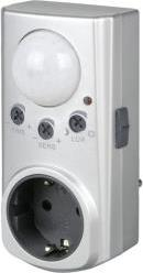 PLUG ADAPTER WITH MOTION DETECTOR SILVER REV