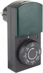 TIMER WITH DIMMER AND COUNTDOWN FUNCTION IP44 BLACK/GREEN REV