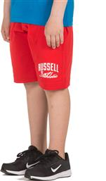 ATHLETIC KIDS' SHORTS A9-913-1-422 ΚΟΚΚΙΝΟ RUSSELL