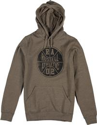 ATHLETIC PULL OVER WASHED GRAPHIC HOODIE A7-912-2-257 ΧΑΚΙ RUSSELL