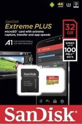 SDSQXBG-032G-GN6MA EXTREME PLUS A1 32GB MICRO SDHC UHS-I U3 WITH ADAPTER SANDISK