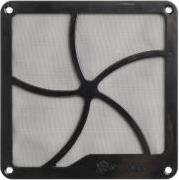 FF122B 120MM FAN GRILLE WITH MAGNET MONTAGE BLACK SILVERSTONE