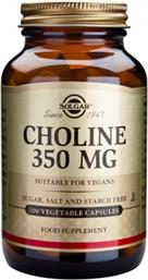 CHOLINE 350MG 100VEG.CAPS SOLGAR