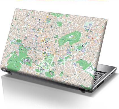 ΑΥΤΟΚΟΛΛΗΤΟ LAPTOP ATHENS MAP STICKY