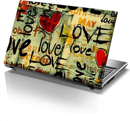 ΑΥΤΟΚΟΛΛΗΤΟ LAPTOP LOVE GRAFFITI STICKY