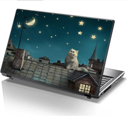 ΑΥΤΟΚΟΛΛΗΤΟ LAPTOP NIGHT CAT STICKY