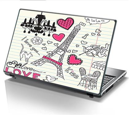 ΑΥΤΟΚΟΛΛΗΤΟ LAPTOP PARIS LOVE STICKY