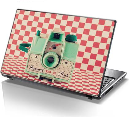 ΑΥΤΟΚΟΛΛΗΤΟ LAPTOP RETRO CAMERA STICKY