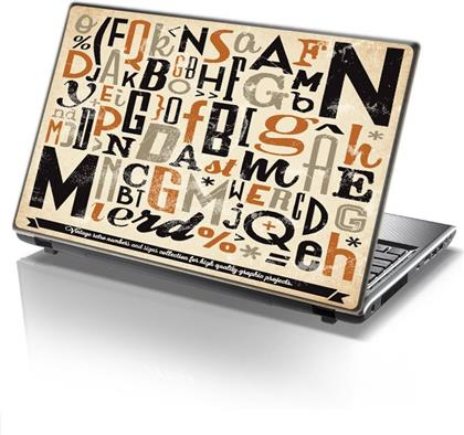 ΑΥΤΟΚΟΛΛΗΤΟ LAPTOP TYPOGRAPHY STICKY