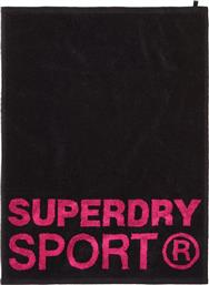 D1 SPORTS SMALL TOWEL GS4001AT Μ 66CM X Π 48CM-02A ΜΑΥΡΟ SUPERDRY