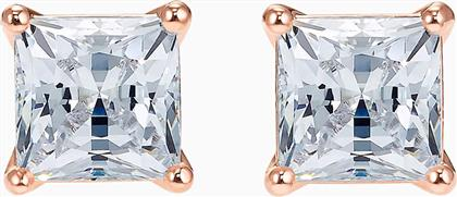 ATTRACT PIERCED EARRINGS, WHITE, ROSE-GOLD TONE PLATED - 5509935 - ΛΕΥΚΟ SWAROVSKI