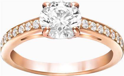ATTRACT ROUND RING, WHITE, ROSE-GOLD TONE PLATED - 5149218 - ΛΕΥΚΟ SWAROVSKI