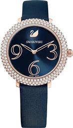 CRYSTAL FROST WATCH, LEATHER STRAP, ROSE-GOLD TONE PVD - 5484061 - ΜΠΛΕ SWAROVSKI
