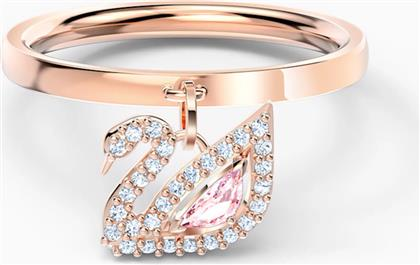 DAZZLING SWAN RING, PINK, ROSE-GOLD TONE PLATED - 5569924 - ΡΟΖ SWAROVSKI