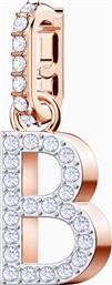 REMIX COLLECTION CHARM B, WHITE, ROSE-GOLD TONE PLATED - 5437624 - ΛΕΥΚΟ SWAROVSKI