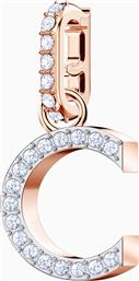 REMIX COLLECTION CHARM C, WHITE, ROSE-GOLD TONE PLATED - 5437626 - ΛΕΥΚΟ SWAROVSKI