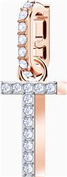 REMIX COLLECTION CHARM T, WHITE, ROSE-GOLD TONE PLATED - 5437615 - ΛΕΥΚΟ SWAROVSKI