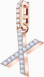 REMIX COLLECTION CHARM X, WHITE, ROSE-GOLD TONE PLATED - 5440510 - ΛΕΥΚΟ SWAROVSKI