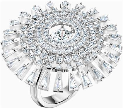 SPARKLING DANCE DIAL UP RING, WHITE, RHODIUM PLATED - 5564427 - ΛΕΥΚΟ SWAROVSKI