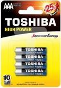 ΜΠΑΤΑΡΙΕΣ ALKALINE 3A HIGH POWER 4PCS TOSHIBA