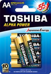 LGR6GGCH BP-6 ALPHA POWER SUPER ALKALINE AA 6ΤΜΧ TOSHIBA
