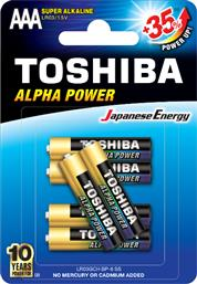 LR03GCH BP-6 ALPHA POWER SUPER ALKALINE AAA 6ΤΜΧ TOSHIBA