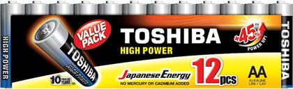 LR6GCP MP-12 HIGH POWER AA ALKALINE 12ΤΜΧ VALUE PACK TOSHIBA