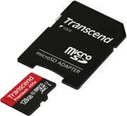 TS128GUSDU1 128GB MICRO SDXC CLASS 10 UHS-I 400X PREMIUM WITH ADAPTER TRANSCEND