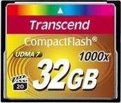 TS32GCF1000 32GB COMPACT FLASH CARD ULTIMATE 1000X TRANSCEND