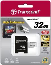 TS32GUSDHC10V 32GB HIGH ENDURANCE MICRO SDHC CLASS 10 WITH ADAPTER TRANSCEND
