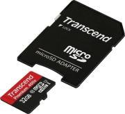 TS32GUSDU1 32GB MICRO SDHC CLASS 10 UHS-I 400X PREMIUM WITH ADAPTER TRANSCEND